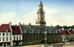 62-HESDIN....L'HOTEL DE VILLE....CPSM PETIT FORMAT ANIMEE - Hesdin