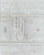 ARDECHE - 1844 - LETTRE De SAINT PERAY Pour PALERME (SICILE) CONFIEE Et ACHEMINEE Par NAPLES (ITALIE) - 1801-1848: Precursores XIX