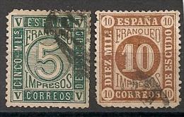 Espagne Espana. 1867. N° 93,94 . Oblit. Défauts De Dentelure - 1850-68 Kingdom: Isabella II