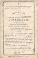 Victoire Marie Henriette Bosselaer - Malines 1877, à L´âge De 64 Ans - Vve. De Jean Michel De Cocq - Overlijden