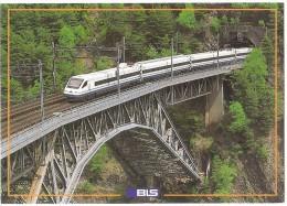 TRAIN Suisse - EISENBAHN Schweiz - BIETSCHTAL VIADUKT - HASILWALD RARON AUSSERBERG VIEGE - Cisalpino ETR 470 - Trains
