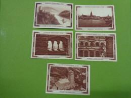 Lot 5 Images Menier N°553 Francfort-547 Cologne-537 Les Bords Du Rhin-542 Cologne Le Pont Suspendu-541 Cologne Un Gratt - Non Classés