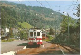 TRAIN Suisse - EISENBAHN Schweiz - CHAMPÉRY (gare) - Automotrice, Autorail BDeh 4/4 11 - Photo Olivier Geerinck (tramway - Gares - Avec Trains