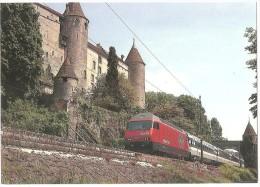 TRAIN Suisse - EISENBAHN Schweiz - GRANDSON - Locomotive Re 4/4 460 - Photo SBB Werbedienst - Trains