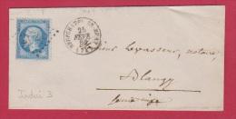 Lettre De Neufchateau En Fray  //  Pour  Blangy   //  25 Fev 1866 - 1849-1876: Classic Period