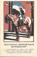 8995 - Carte Etudiant Technika Bernensis Burgdorf Cheval Et Cavalier - Ecoles