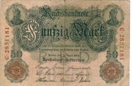 50 Mark 1910 - 1933-1945: Drittes Reich