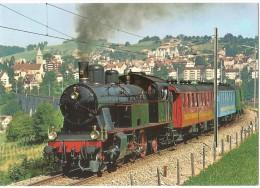 """TRAIN Suisse - EISENBAHN Schweiz - HERISAU - """"Amor-Express"""" Der Bodensee-Toggenburg-Bahn - Locomotive-vapeur Eb 3/5, BT9 - Trains"""