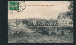FAUCONCOURT - La Grande Rue Et Le Château (animation Attelage Cheval) - Other Municipalities
