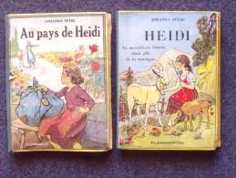 HEIDI et AU PAYS DE HEIDI (de SPYRI): 2 livres ann�es 50 - FLAMMARION