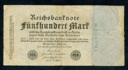 """500 Mark """" Allemagne""""  7 Juillet 1922  Pik74c   Ble 90 - [ 3] 1918-1933 : République De Weimar"""
