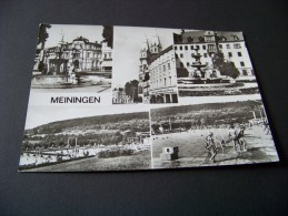 Meiningen Thüringen,  Platz Der Republik , Heinrichbrunnen Und Postamt    ( 11 ) - Meiningen