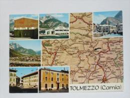 UDINE - Carnia - Tolmezzo - Carta Automobilistica Geografica - Map - 1977 - Udine