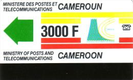 CAMEROUN  TELEPHONE EMS COURSE 3000F UT RARE - Cameroun