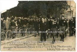 FOTOGRAFIA ORIGINALE CELEBRAZIONE 3° ANNUALE FASCI GIOVANILI ALLA PRESENZA DEL PREFETTO MOSTROMATTEI 8 OTTOBRE ANNO 1933 - Lieux