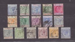 CHYPRE N°19 24 27 34 48 56 57 57 60 76 84 86 88 89 93 94 (o) (YT) 16 TIMBRES VALEUR 28 EUROS - Cipro (...-1960)
