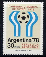 ARGENTINA 1977 Football World Cup 1978:   Games Emblems MNH / **.  Sc. 1147-48 - Argentina