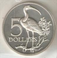MONEDA DE PLATA DE TRINIDAD Y TOBAGO DE 5 DOLLARS DEL AÑO 1972 SIN CIRCULAR-UNCIRCULATED (COIN) SILVER-ARGENT. - Trinidad Y Tobago