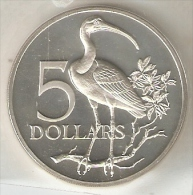 MONEDA DE PLATA DE TRINIDAD Y TOBAGO DE 5 DOLLARS DEL AÑO 1973 SIN CIRCULAR-UNCIRCULATED (COIN) SILVER-ARGENT. - Trinidad Y Tobago
