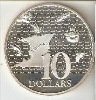 MONEDA DE PLATA DE TRINIDAD Y TOBAGO DE 10 DOLLARS DEL AÑO 1973 SIN CIRCULAR-UNCIRCULATED (COIN) SILVER-ARGENT. - Trinidad Y Tobago
