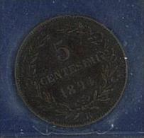 NUMISMATICA - SAN MARINO - ANNO 1894 - 5 CENTS. ROMA  - RAME - BB/SPL - NON PULITA - San Marino