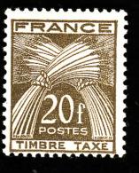 TAXE  N° 87 -  Gerbes  20f -  NEUF**  - Cote 2e - Taxes
