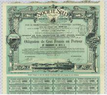 Sté Sully à Tours, Statuts à Dangé, Super Déco, Obligation De 100 Frs, Série H - Agriculture