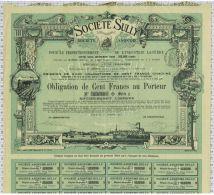 Sté Sully à Tours, Statuts à Dangé, Super Déco, Obligation De 100 Frs, Série E - Agriculture