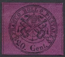 Roman States, 20 C. 1868, Sc # 23e, M # 23, MH, Imperf - Papal States