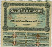 Sté Sucriere D'Annam à Saigon, Indochine - Agriculture