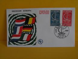 FDC- Europa CEPT - Paris - 24.9.1966 - 1er Jour - Europa-CEPT