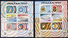 ITALY 1990 Football World Cup Set Of  6 Blocks MNH / **.  Michel Block 3-8 - 6. 1946-.. Republic