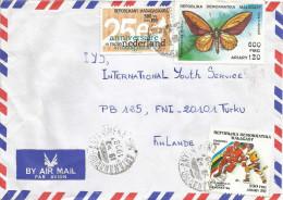 Madagascar 1998 Antananarivo Olympic Games Calgary Ice Hockey Troqonoptera Butterfly Cover - Madagaskar (1960-...)