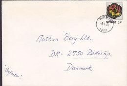 Norway Deluxe HØVIK 1987 Cover Brief To Denmark Weihnachten Christmas Jul Noel Natale Navidad Stamp - Briefe U. Dokumente