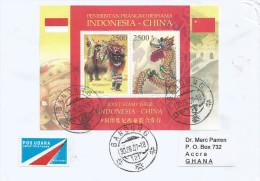 Indonesia 2007 Bandung China Cooperation Miniature Sheet Dragon Cover - Indonesië