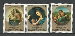 """Hte-Volta YT 531 à 533 """" Noël, Tableaux De Raphaël """" 1980 Neuf** - Haute-Volta (1958-1984)"""