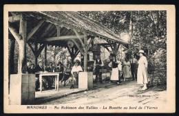 MANDRES . Au Robinson Des Vallées - La Buvette Au Bord De L'Yerres . - Frankreich