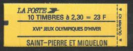 Saint Pierre Et Miquelon 1990 Carnet C518 Jeux Olympiques Cote 11 Euros, Vendu Sous Faciale - Carnets