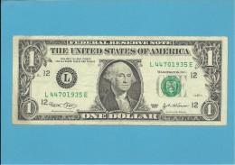 U. S. A. - 1 DOLLAR - 2003 - Pick 515a - SAN FRANCISCO - CALIFORNIA - Federal Reserve Notes (1928-...)