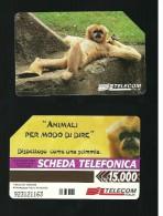 841 Golden - Animali Per Modo Di Dire - Scimmia Da Lire 15.000 Telecom - Italië