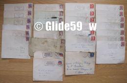Lot De 28 Enveloppes Affranchies Avec Timbres Français De 1957 à 1963 Et 1966 - Storia Postale