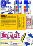 Autocollants - Radio Télécom   6 Dif - Stickers