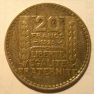 20 FRANCS TURIN 1929 - France