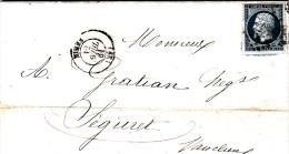 1861, GARD, NIMES, AYRAL, GUIRAUD, DELEUZE &Cie, FABRIQUE DE CHALES, IMPRESSION POUR ROBES /4681 - Marcophilie (Lettres)