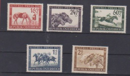 AUTRICHE //   1946 // Grand Prix Hippique // N 648-652  //  Neuf**  //  Côte 17€ - 1945-.... 2nd Republic