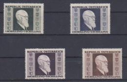 AUTRICHE //   1946 //  Renner   // N 634-637  //  Neuf**  //  Côte 14€ - 1945-.... 2nd Republic