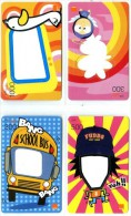 4 Mobilecards Thailand - Orange - Memo Cards - Schulbus........... - Thaïlande
