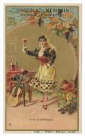Chromo Publicitaire Chocolat MEXICAIN  -  Vin D'Espagne - Lith.J. Minot , Editeur , Paris - Belle Dorure - Chocolat