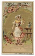 Chromo Publicitaire Chocolat MEXICAIN  -  Le Cidre  - Lith.J. Minot , Editeur , Paris - Belle Dorure - Chocolat