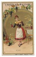 Chromo Publicitaire Chocolat MASSON  -  Le Vin  - Lith.J. Minot , Editeur , Paris - Belle Dorure - Chocolat